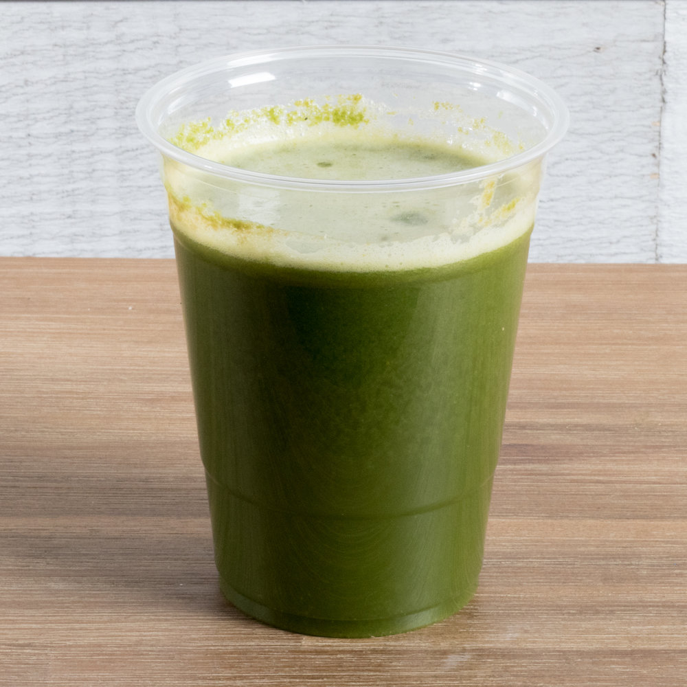 Post Workout (Kapha)    Includes: Kale, romaine, apple, pear, lemon, coconut water, ginger   Benefits: anti-inflammatory, adrenal support, digestive support, hydrating, immune booster