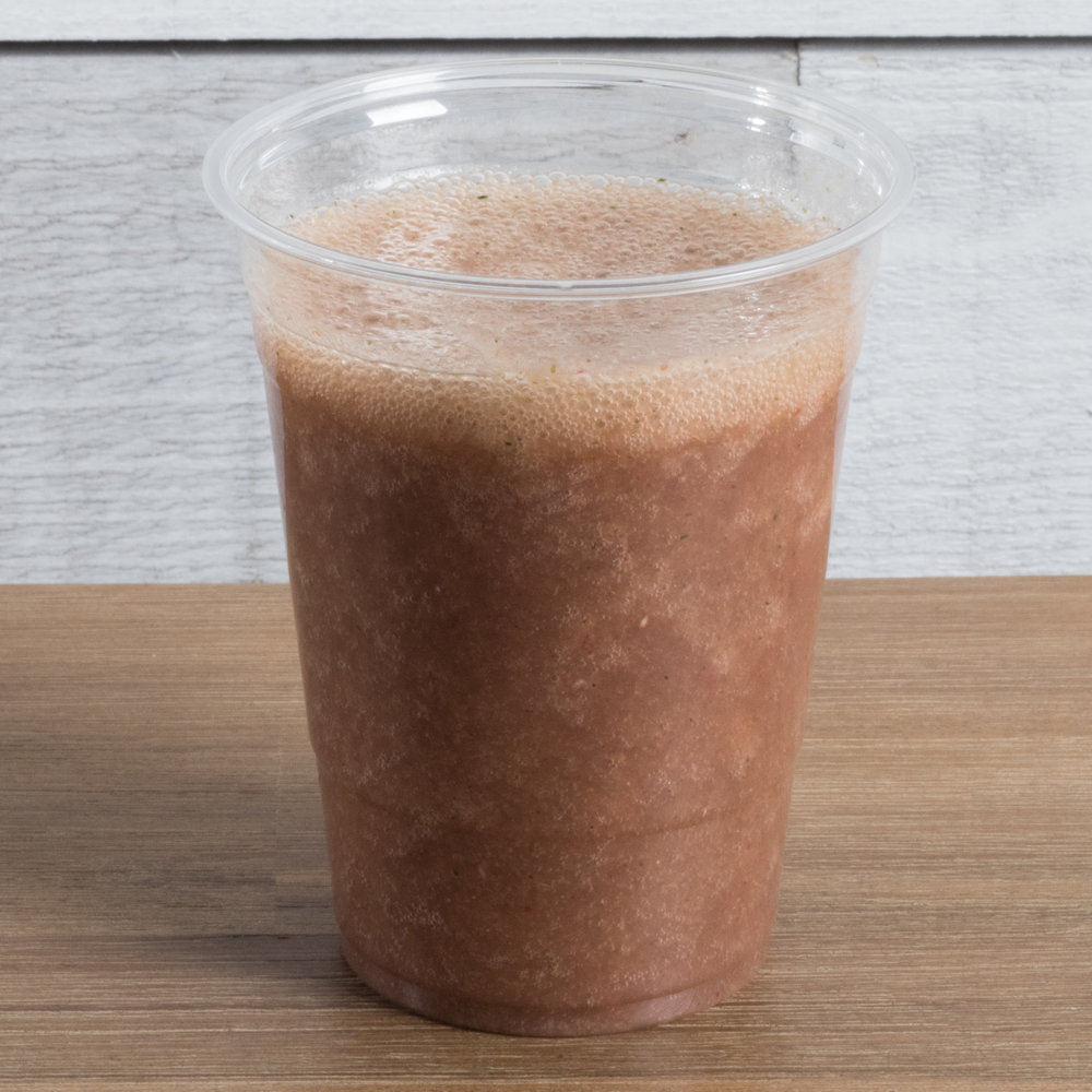 Hello Sunshine (Vata, Pitta) Includes: Strawberry, orange, banana, chia seeds, coconut water, date