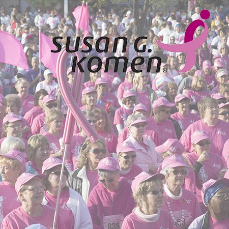 Susan G. Komen   Susan G. Komen is the only organization that addresses breast cancer on multiple fronts such as research, community health, global outreach and public policy.