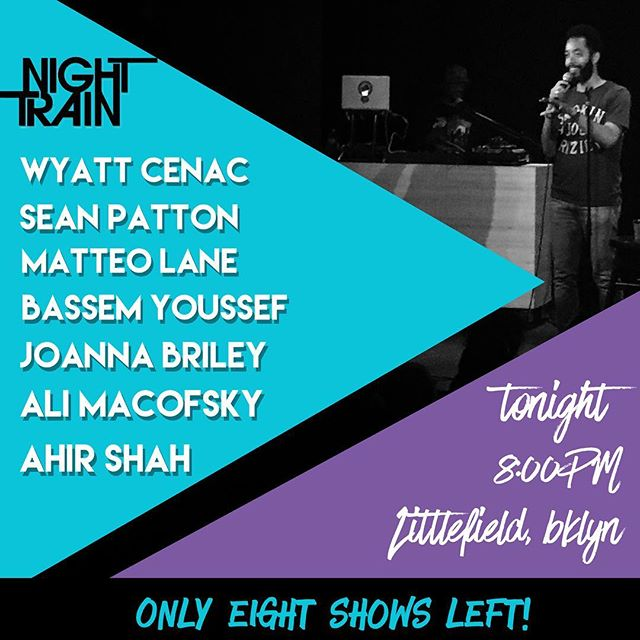 Only 8 shows left! Come hang with us and catch these stellar comics! #nighttrainshow #brooklyn #comedy