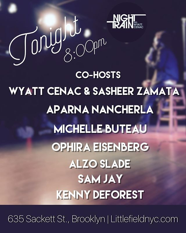 Only four shows left, and it's another stacked lineup with some of our favorite comedians. See you tonight! #nighttrainshow #brooklyn #comedy