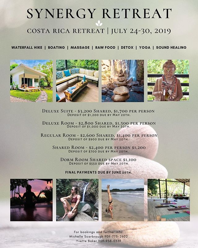 Check out the Synergy Retreat! Raw food, hikes, detox, yoga, sound healing and more!! And it's in Costa Rica 😍 If you're looking to book, contact @gypsyacroyogi 💕🙏🏽💖 #yAURAmazing #synergy #yogaretreat #costarica