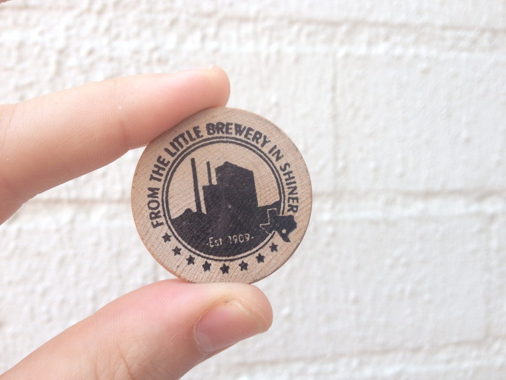 We received four of these wooden nickels to exchange for beer samples