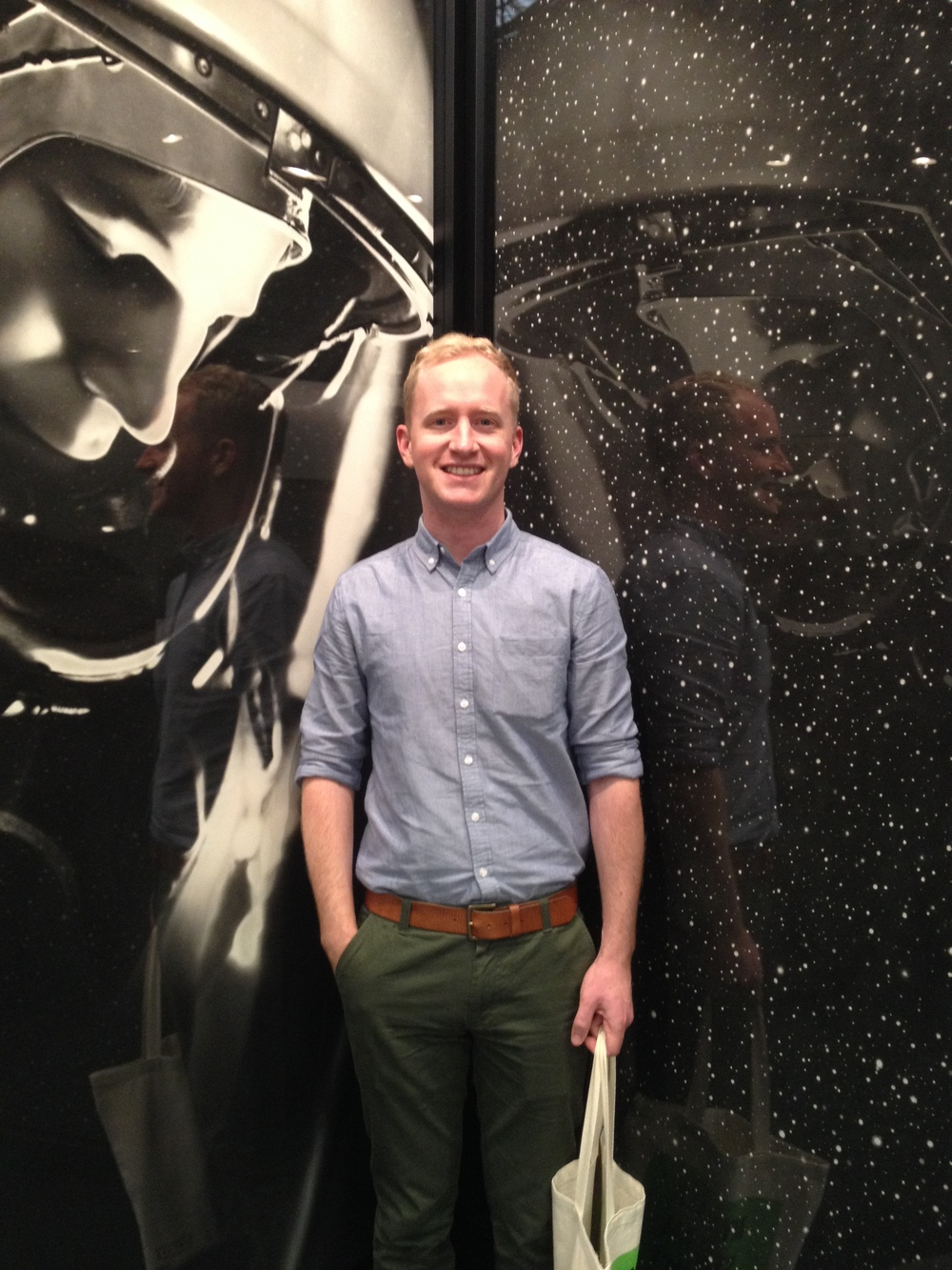 Here's Ben in front of some drawings by Robert Longo in the same exhibit