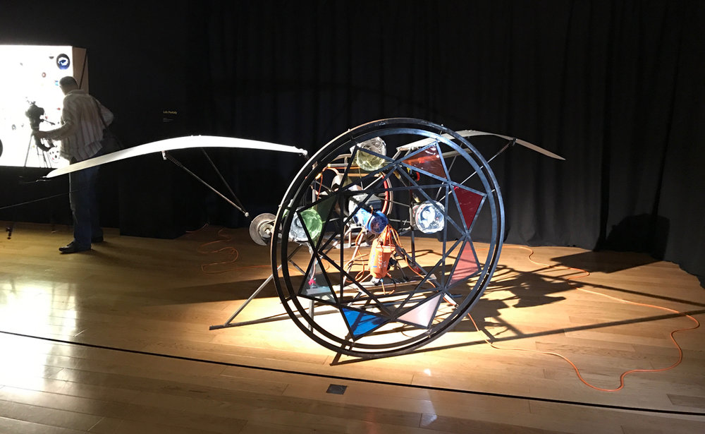 The French Space Agency was open that night and had a great show about selected artists interpreting space exploration. Here is an artist's rendition of a space contraption.