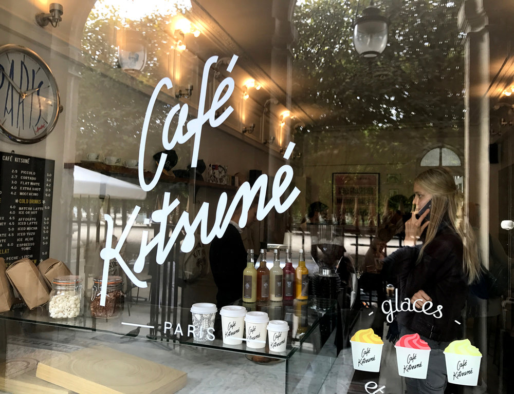 Our staple coffee shop of the trip. Cafe Kitsune. That's right, they have a fashion label as well!