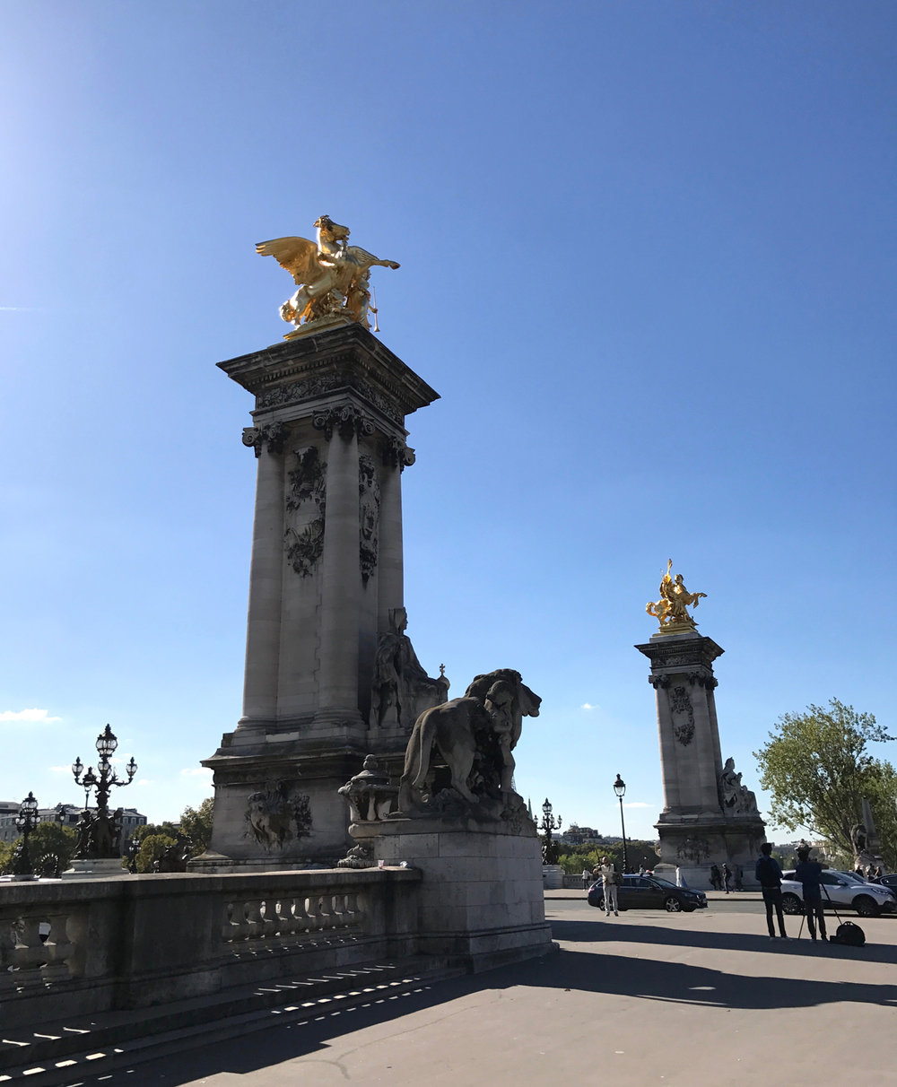Pont Alexandre III bridge. Check out that gold!
