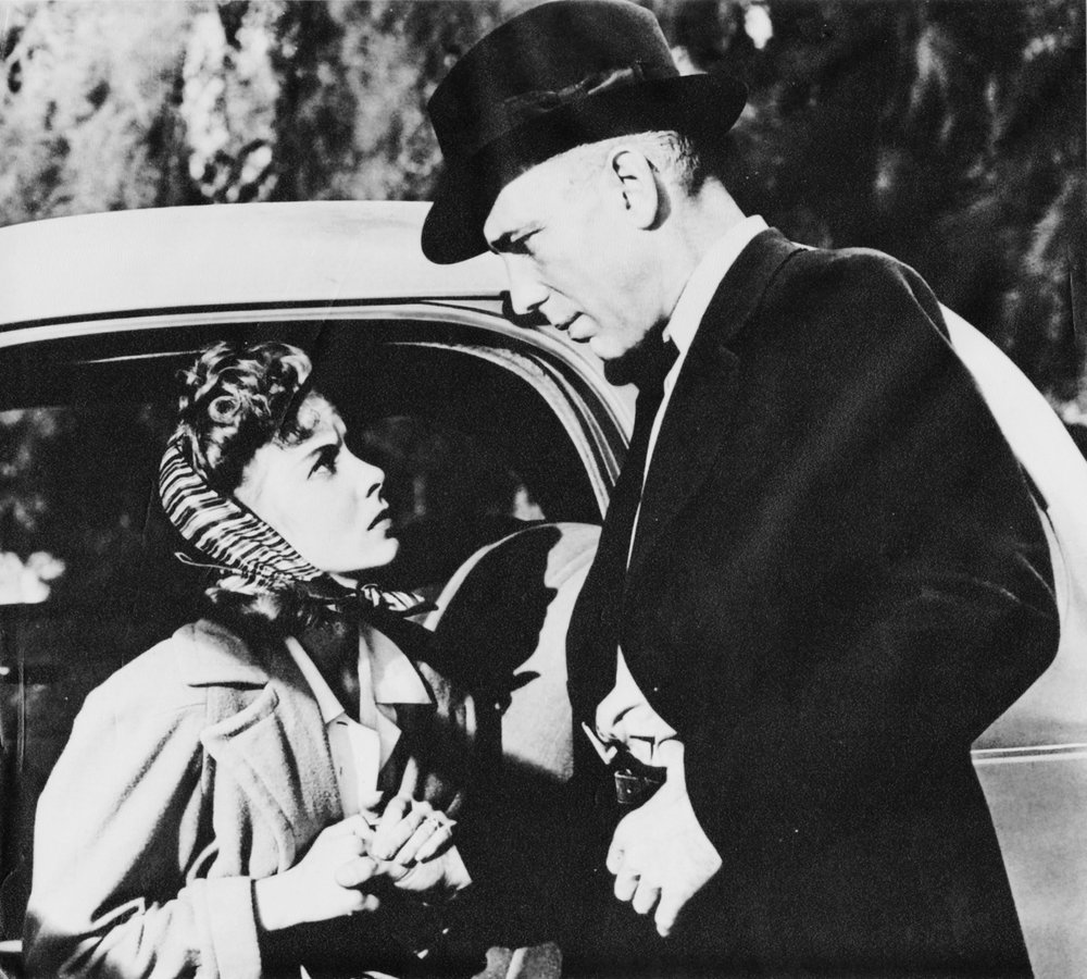 "Ida Lupino as Marie and Humphrey Bogart as Roy ""Mad Dog"" Earle after their roles in ""High Sierra"" became big stars."