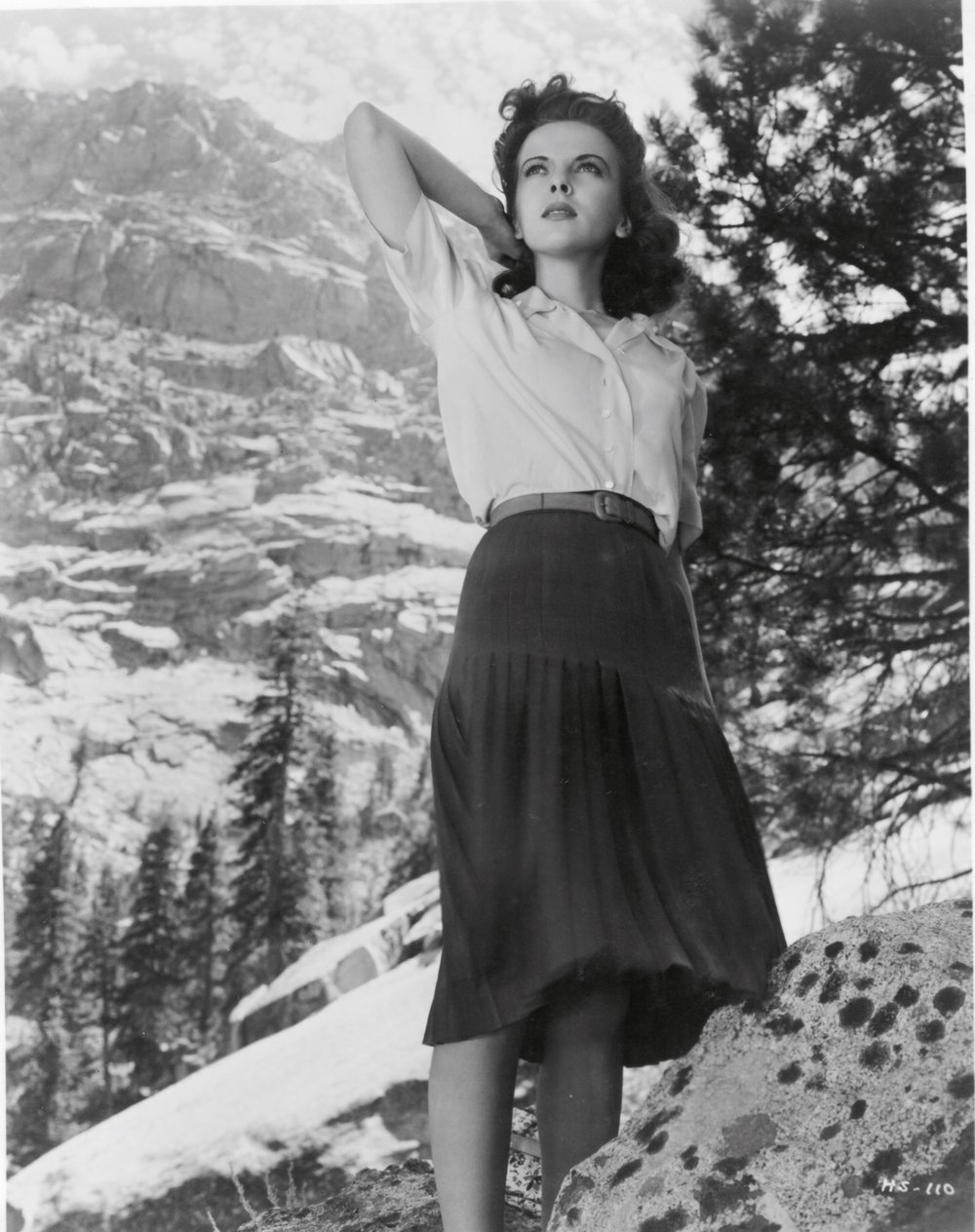 Ida Lupino as Marie at Whitney Portal where her boyfriend Earle would meet his death. At the time she was recovering from measles.