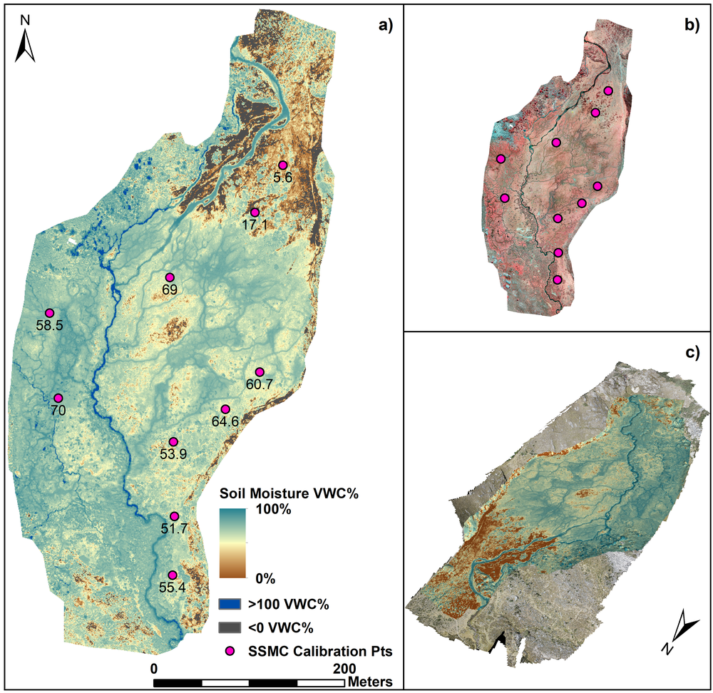 New paper in Remote Sensing of Environment - Sub-metre mapping of surface soil moisture in proglacial valleys of the tropical Andes using a multispectral unmanned aerial vehicle