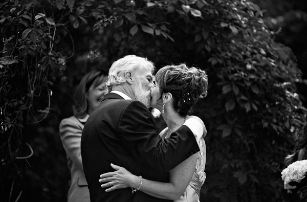 first kiss at millcroft inn wedding ceremony