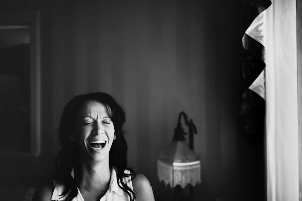 laughing bridesmaid kitchener wedding