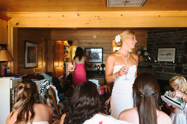 bride laughing photograph by parry sound wedding photographer.