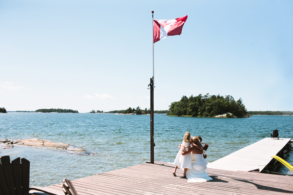 cottage wedding on dock