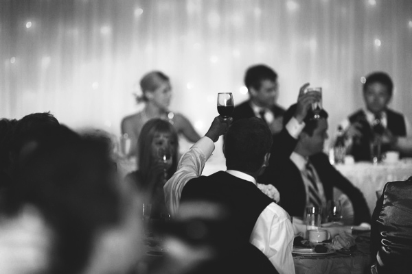 cheers at the stockey centre wedding in parry sound.