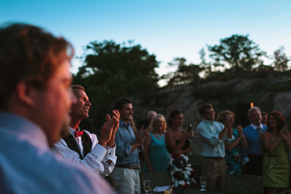 dad clapping at georgian bay wedding