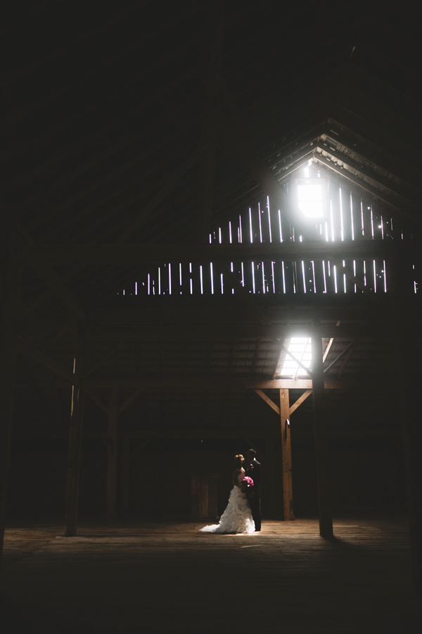 barn photograph of bride and groom by guelph wedding photographer