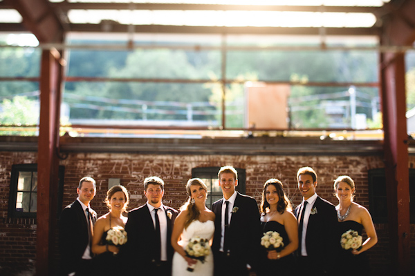 wedding party pictures at the toronto brickworks