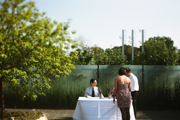 toronto botanical gardens wedding guest photos.