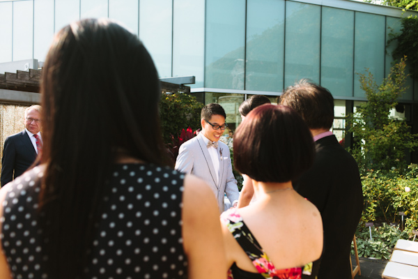 The groom is looking very handsome at chinese wedding in Toronto ontario Canada.