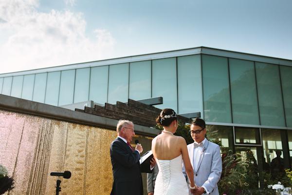 wedding ceremony at Toronto Botanical Gardens photograph.
