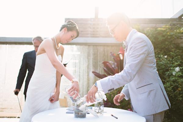 wedding pebble ceremony at chinese wedding.