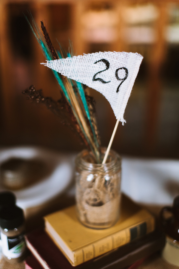 rustic centrepiece at country barn wedding in london ontario.