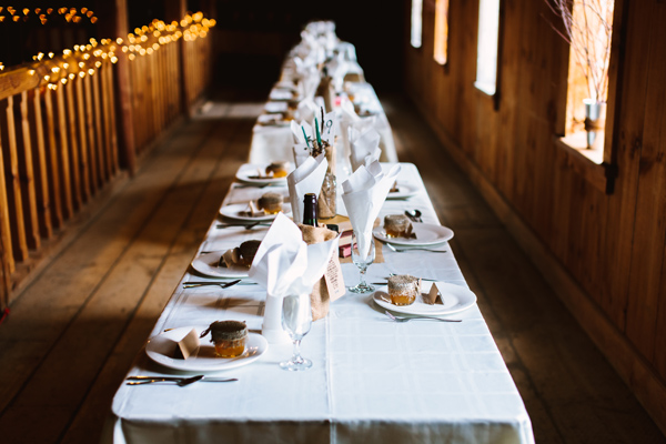 Scott and Danielle barn wedding table settings