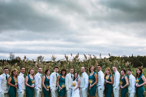london ontario wedding photography taylor roades photographs large wedding party.