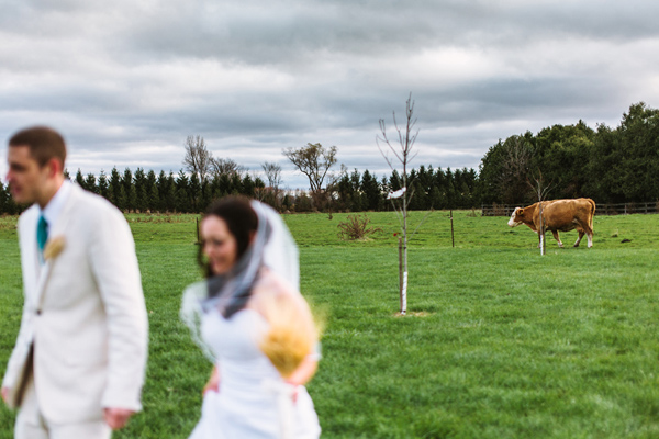 happy couple at barn wedding venue in london ontario.