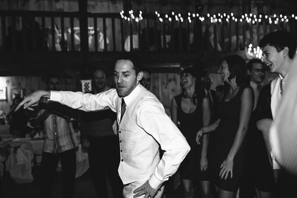 groomsmen breaking it down