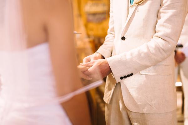 ring exchange at rustic barn wedding in london ontario