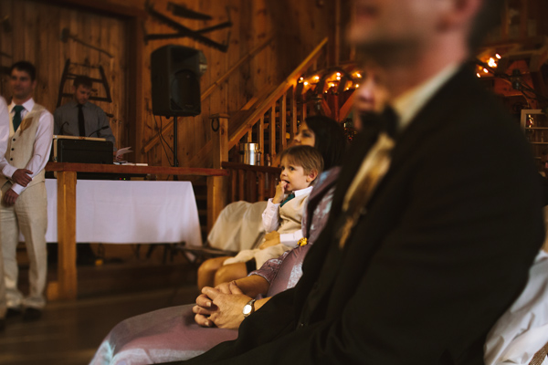 rustic chic wedding ceremony moment pre-kiss