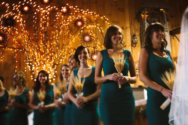 happy girls at wedding ceremony in london ontario