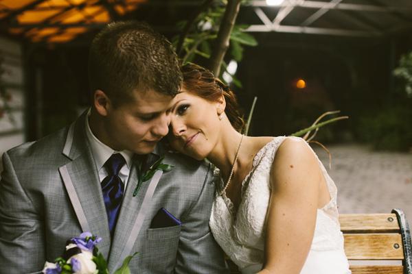 night time indoor wedding ceremony
