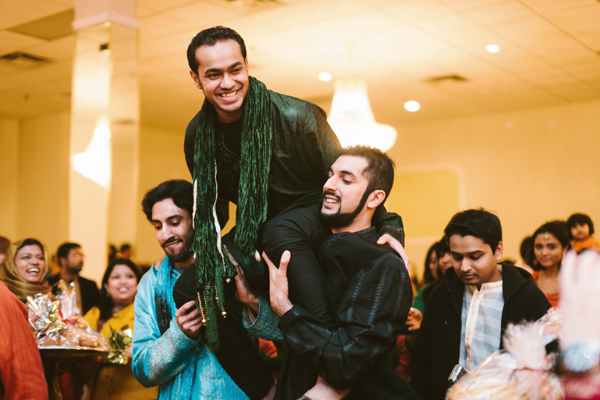 groom's entrance at mississauga south asian wedding