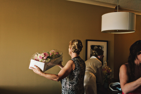 mother of the bride at ontario wedding