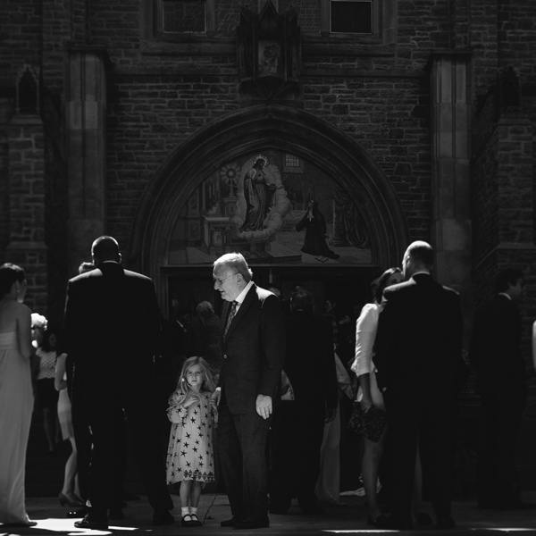 toronto outside church after wedding