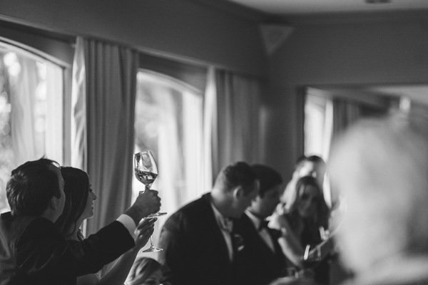 photo of a cheers at the end of wedding speeches
