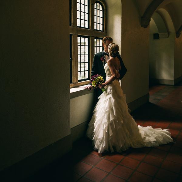 U of T campus wedding photo