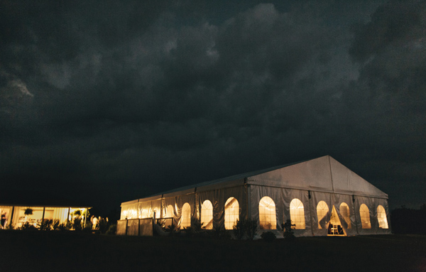 Ontario storm wedding photo