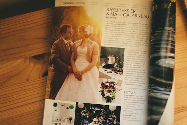Wedding Bells Magazine Feature - Kayli and Matt