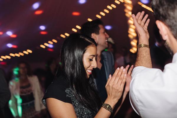 dancing guests at an ontario farm wedding