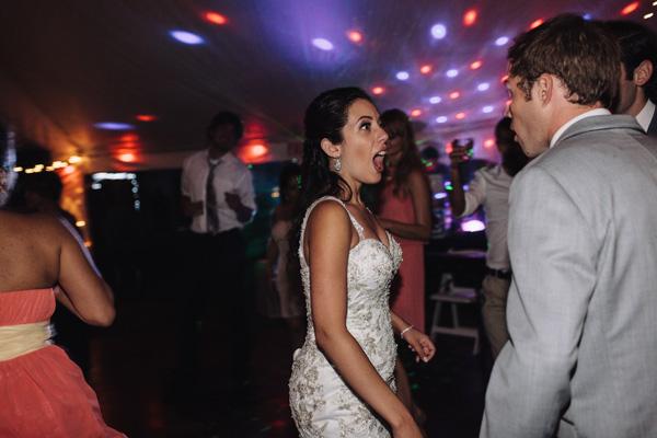 surprised bride reaction photograph