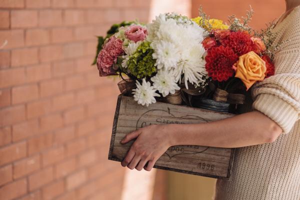 farm wedding bouquets