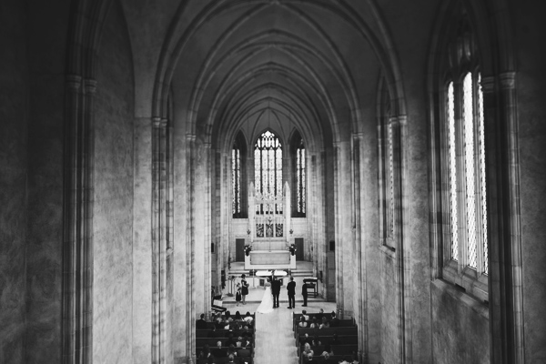 Trinity chapel wedding photo