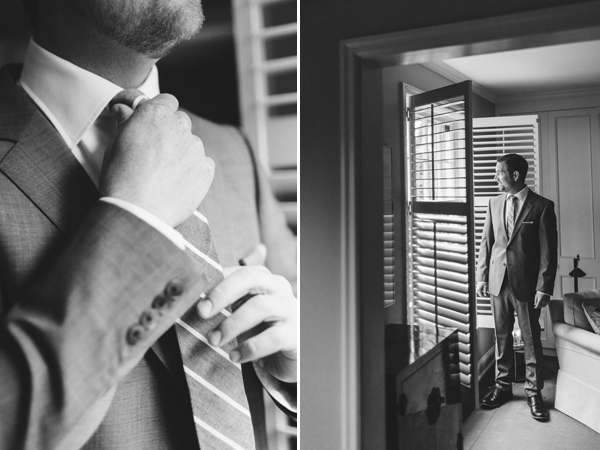 groom getting ready for Toronto wedding