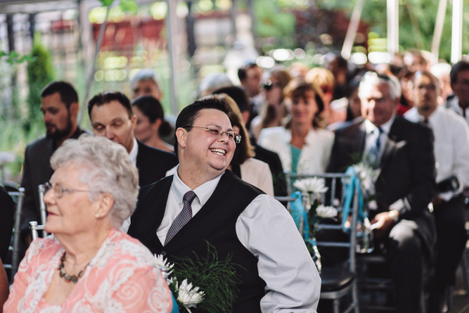wedding guest waits for ceremony