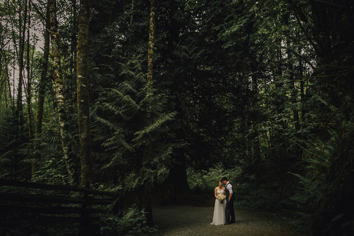 epic bc forest wedding