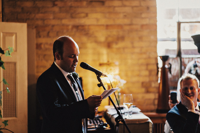 best man speech at wedding photographed by taylor roades